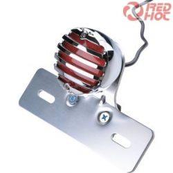 Ledes hátsó lámpa ráccsal féklámpával és rendszámtábla világítással króm 10034072