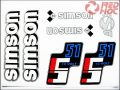 SIMSON 51 MATRICA KLT. S51 12V FEHÉR-EZÜST-KÉK