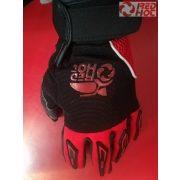 RH MX textilkesztyű piros-fekete színben