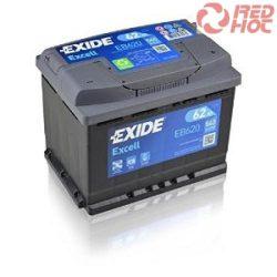 Exide Akkumulátor EB620 62Ah 540A 242x175x190 jobb pozitív