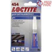 Loctite 454 Gél állagú pillanatragasztó 3gr