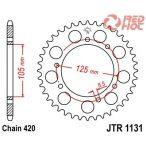JTR 1133.53 hátsó lánckerék Derbi