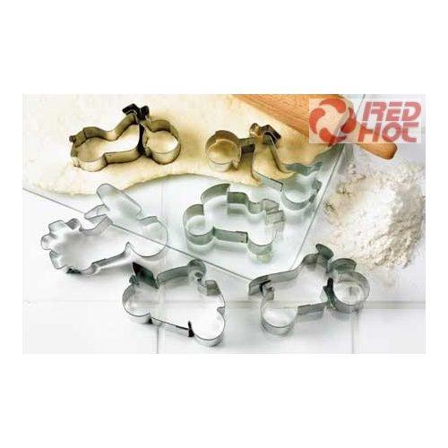 Motorkerékpár formákat tartalmazó fém sütőformák 6db / csomag