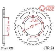 JTR23.47 JT Hátsó lánckerék 47 fogas