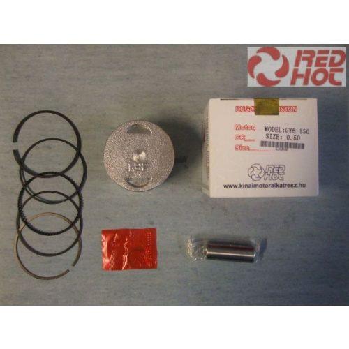 Dugattyú szett 57,5 + 0,5 mm túlméret kínai 4T robogó blokkhoz 150cc RH