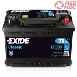 Exide Classic Akkumulátor 70Ah/640A 278*175*190