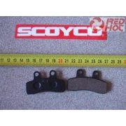 Fékbetét szimetrikus kicsi 58x20 mm