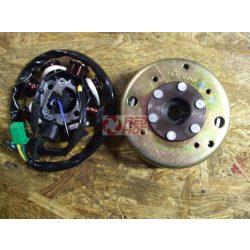 Alaplap 8 tekercses 1 gyújtó 2 pontos felfogatás 5 vezetékes GY6 125-150cc 4T +jeladóval + lendkerékkel