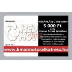 RedHot Vásárlási utalvány 5000 Ft értékben