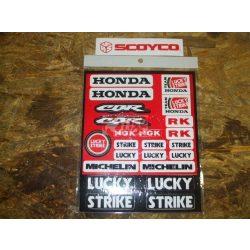 Honda matrica szett A5 Lucky Strike