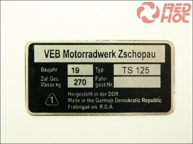 MZ/TS 125 TÍPUSTÁBLA /TS125/