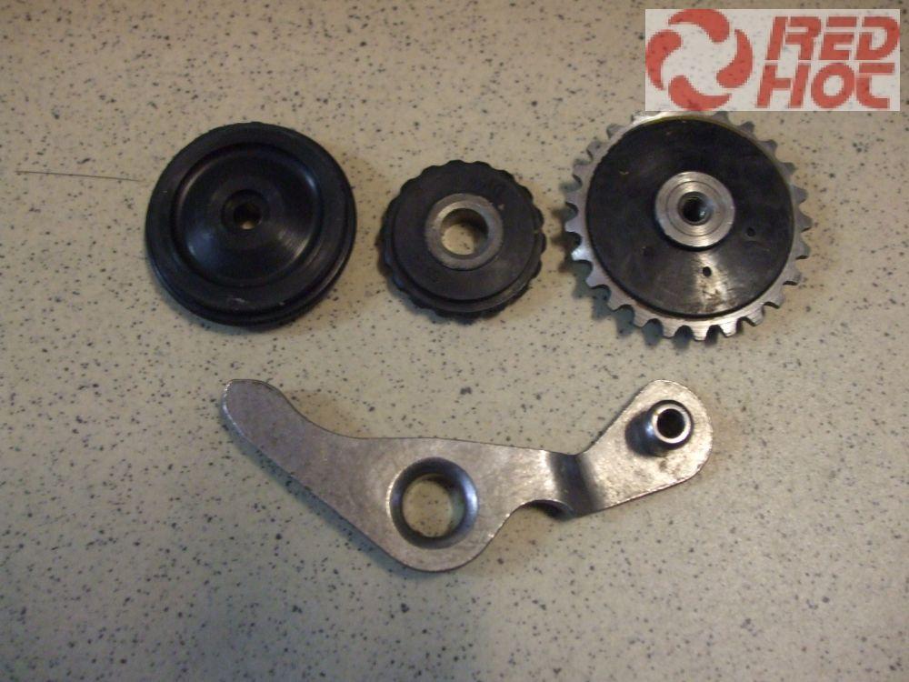 Vezérműlánc láncvezető szett + ív 50cc-125cc C-blokkhoz