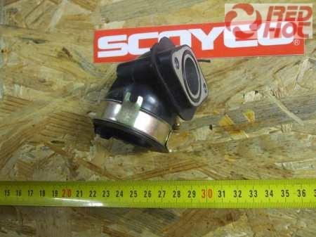 Szívócsonk gumi 1 csatlakozós GY6 125-150cc robogóhoz 22 mm