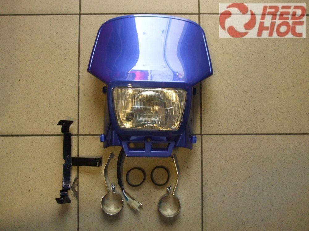 Első fejidom lámpával E4-es szabvány kék szerelvényekkel univerzális